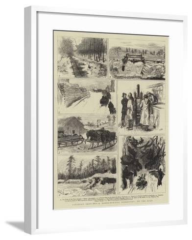Canadian Sketches, a Moose-Hunting Expedition, on the Road-Sydney Prior Hall-Framed Art Print