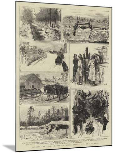 Canadian Sketches, a Moose-Hunting Expedition, on the Road-Sydney Prior Hall-Mounted Giclee Print