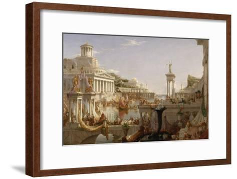 The Course of Empire: the Consummation of the Empire, C.1835-36-Thomas Cole-Framed Art Print