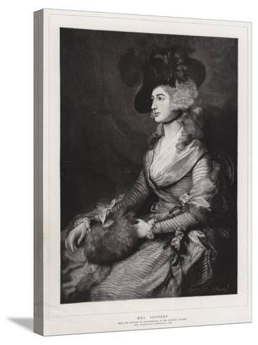 Mrs Siddons-Thomas Gainsborough-Stretched Canvas Print