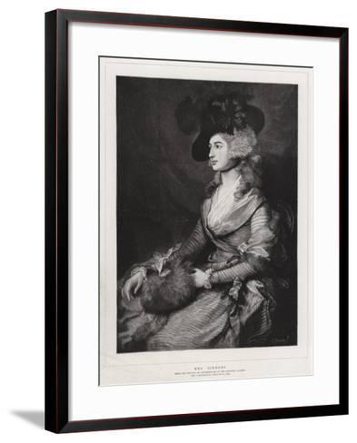 Mrs Siddons-Thomas Gainsborough-Framed Art Print