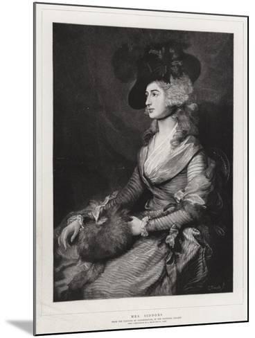 Mrs Siddons-Thomas Gainsborough-Mounted Giclee Print