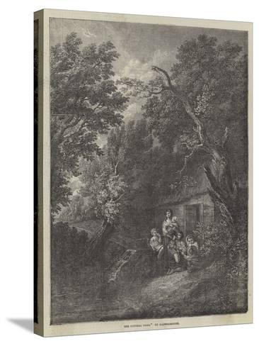 The Cottage Door-Thomas Gainsborough-Stretched Canvas Print