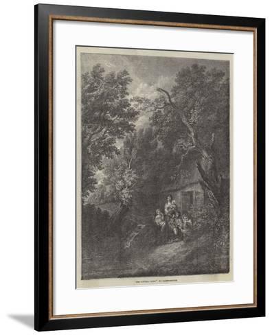 The Cottage Door-Thomas Gainsborough-Framed Art Print