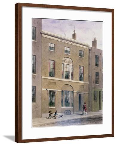 Plumbers Hall in Great Bush Lane, Cannon Street, 1851-Thomas Hosmer Shepherd-Framed Art Print