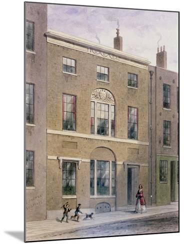 Plumbers Hall in Great Bush Lane, Cannon Street, 1851-Thomas Hosmer Shepherd-Mounted Giclee Print