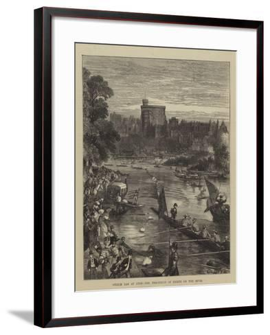 Speech Day at Eton, the Procession of Eights on the River-Sydney Prior Hall-Framed Art Print