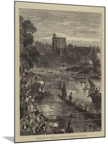 Speech Day at Eton, the Procession of Eights on the River-Sydney Prior Hall-Mounted Giclee Print
