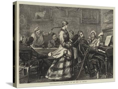 Neutrality, a Sketch in an Inn at Dover-Sydney Prior Hall-Stretched Canvas Print