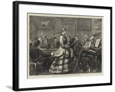 Neutrality, a Sketch in an Inn at Dover-Sydney Prior Hall-Framed Art Print