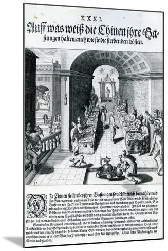 India Orientalis, 1598-Theodore de Bry-Mounted Giclee Print