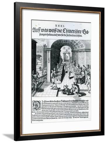 India Orientalis, 1598-Theodore de Bry-Framed Art Print