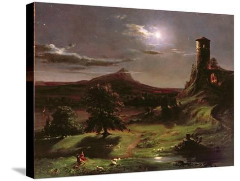 Landscape (Moonlight), C.1833-34-Thomas Cole-Stretched Canvas Print