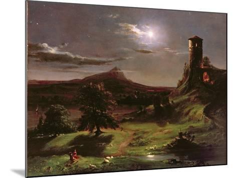 Landscape (Moonlight), C.1833-34-Thomas Cole-Mounted Giclee Print