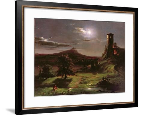 Landscape (Moonlight), C.1833-34-Thomas Cole-Framed Art Print