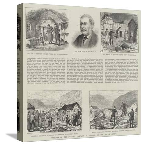 Sketches of the Eviction Campaign in Ireland-Thomas Harrington Wilson-Stretched Canvas Print