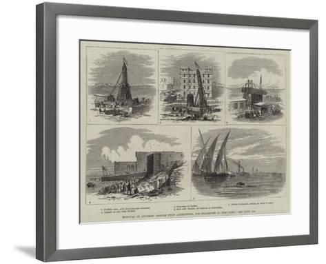 Removal of Another Obelisk from Alexandria, for Transport to New York-Thomas Harrington Wilson-Framed Art Print