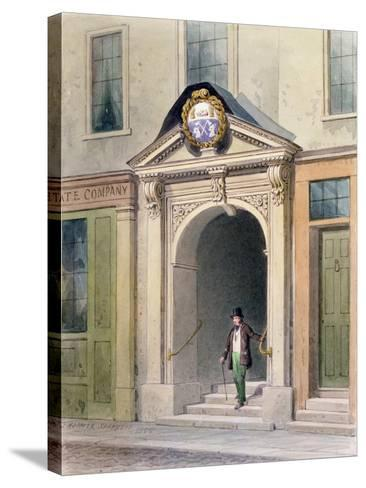 The Entrance to Butchers' Hall, 1855-Thomas Hosmer Shepherd-Stretched Canvas Print