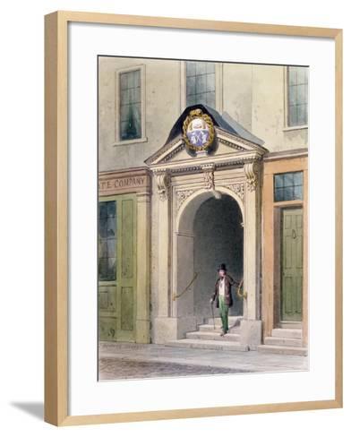 The Entrance to Butchers' Hall, 1855-Thomas Hosmer Shepherd-Framed Art Print