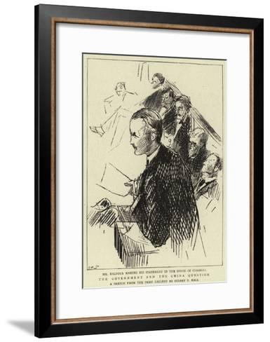 The Government and the China Question-Sydney Prior Hall-Framed Art Print