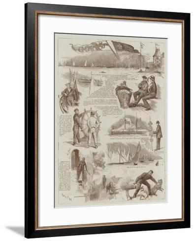 Cowes' Race Week-Sydney Prior Hall-Framed Art Print