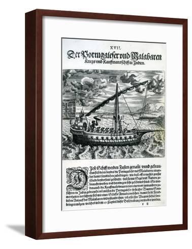 Ship from 'India Orientalis', 1598-Theodore de Bry-Framed Art Print