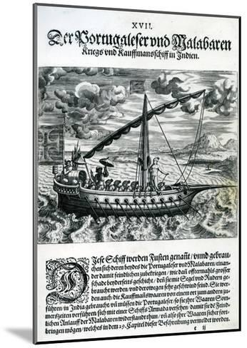 Ship from 'India Orientalis', 1598-Theodore de Bry-Mounted Giclee Print