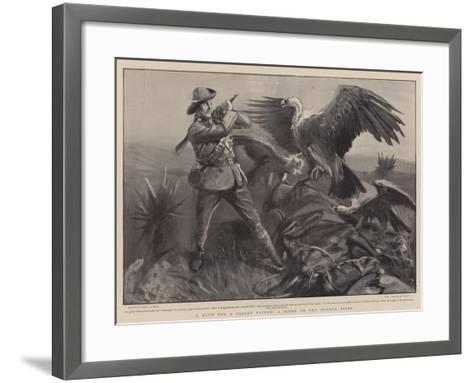 A Blow for a Fallen Friend, a Scene on the Modder River-Sydney Prior Hall-Framed Art Print