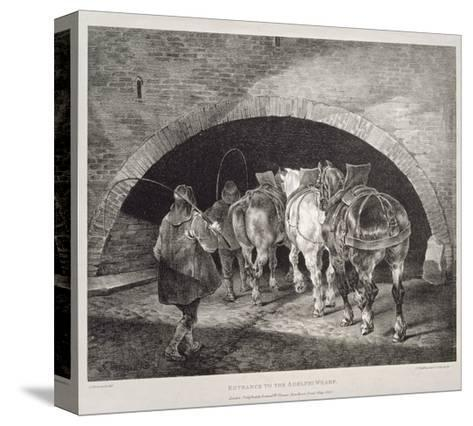 Entrance to the Adelphi Wharf, Lithograph by Charles-Joseph Hullmandel, 1821-Theodore Gericault-Stretched Canvas Print