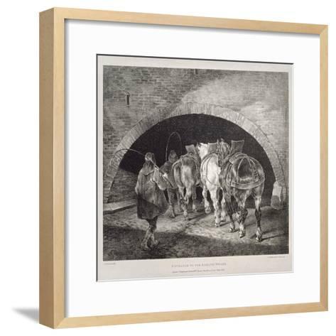 Entrance to the Adelphi Wharf, Lithograph by Charles-Joseph Hullmandel, 1821-Theodore Gericault-Framed Art Print