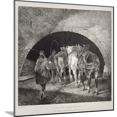 Entrance to the Adelphi Wharf, Lithograph by Charles-Joseph Hullmandel, 1821-Theodore Gericault-Mounted Giclee Print