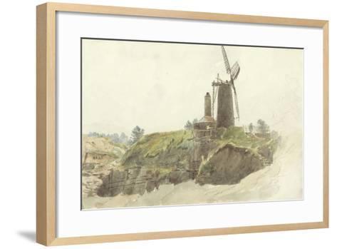 Landscape with Windmill-Thomas Creswick-Framed Art Print