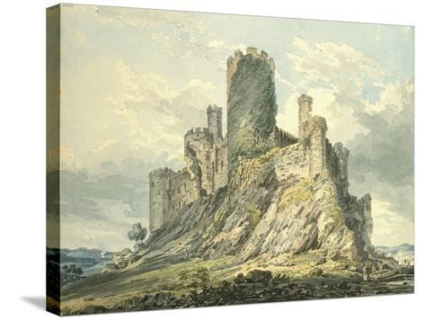 Conway Castle, C.1793 (Watercolour, Touched with the Reed Pen, over Indications in Graphite)-Thomas Girtin-Stretched Canvas Print