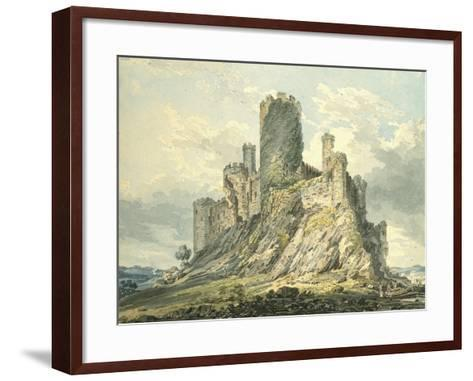 Conway Castle, C.1793 (Watercolour, Touched with the Reed Pen, over Indications in Graphite)-Thomas Girtin-Framed Art Print