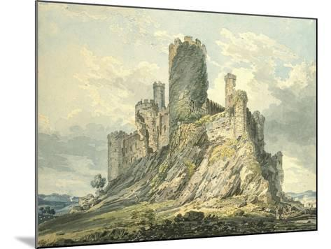 Conway Castle, C.1793 (Watercolour, Touched with the Reed Pen, over Indications in Graphite)-Thomas Girtin-Mounted Giclee Print