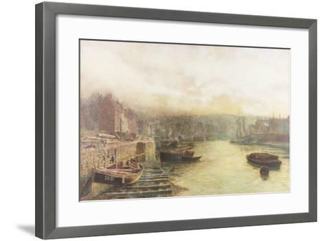 River Wear, North Bank Looking West from Customs House-Thomas Marie Madawaska Hemy-Framed Art Print