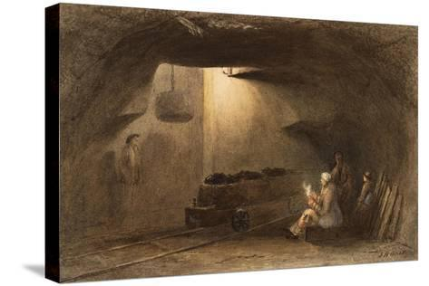 Bottom of the Shaft, Walbottle Colliery-Thomas H. Hair-Stretched Canvas Print