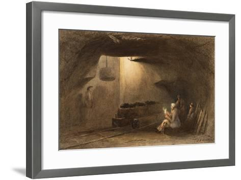Bottom of the Shaft, Walbottle Colliery-Thomas H. Hair-Framed Art Print
