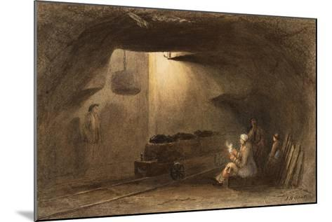 Bottom of the Shaft, Walbottle Colliery-Thomas H. Hair-Mounted Giclee Print