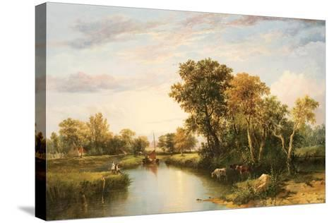 The Thames Valley, 1823-Thomas Miles Richardson-Stretched Canvas Print