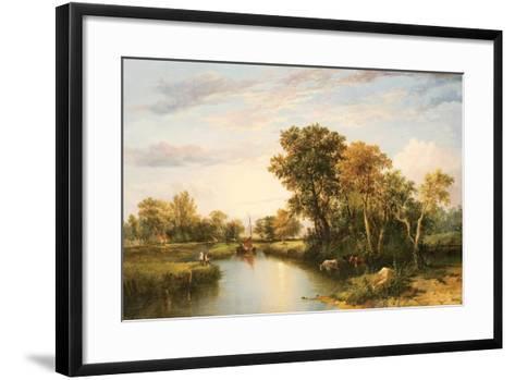 The Thames Valley, 1823-Thomas Miles Richardson-Framed Art Print