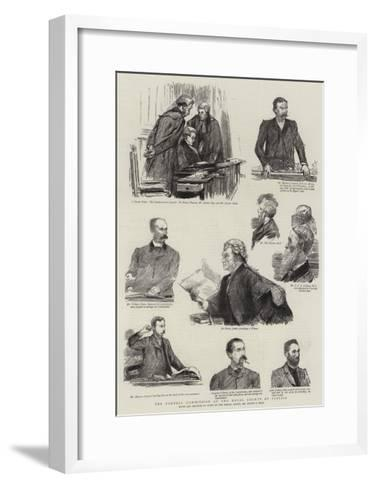 The Parnell Commission at the Royal Courts of Justice-Sydney Prior Hall-Framed Art Print