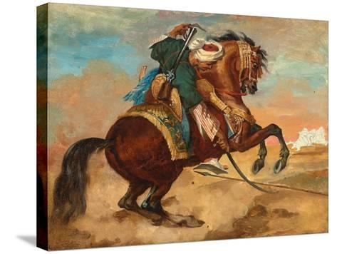 Turk Mounted on Chestnut Coloured Horse, C. 1810-Theodore Gericault-Stretched Canvas Print