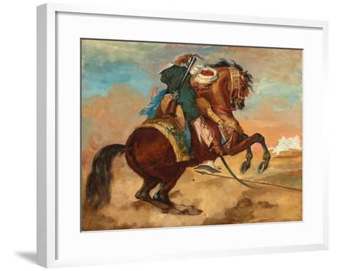 Turk Mounted on Chestnut Coloured Horse, C. 1810-Theodore Gericault-Framed Art Print