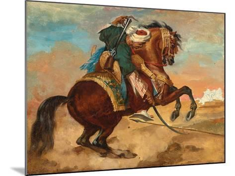 Turk Mounted on Chestnut Coloured Horse, C. 1810-Theodore Gericault-Mounted Giclee Print
