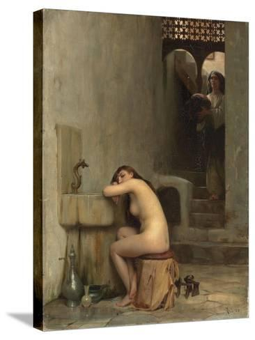 Repos Au Bain, 1888-Theodore Jacques Ralli-Stretched Canvas Print