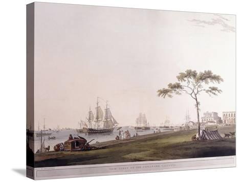 View Taken on the Esplanade, Calcutta, 1797-Thomas Daniell-Stretched Canvas Print