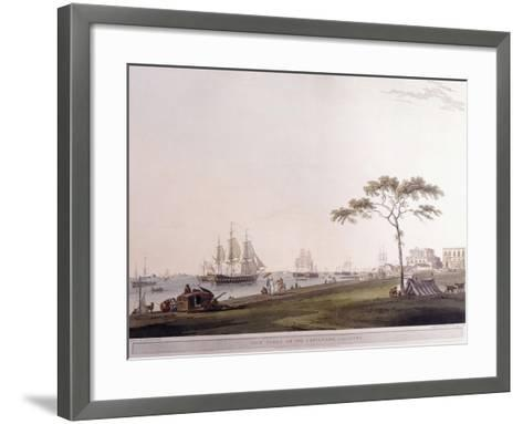 View Taken on the Esplanade, Calcutta, 1797-Thomas Daniell-Framed Art Print