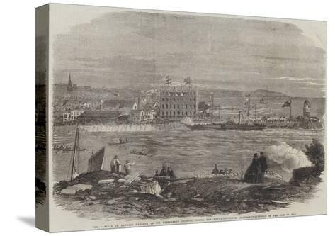 The Arrival in Douglas Harbour of His Excellency Francis Pigott-Thomas Harrington Wilson-Stretched Canvas Print