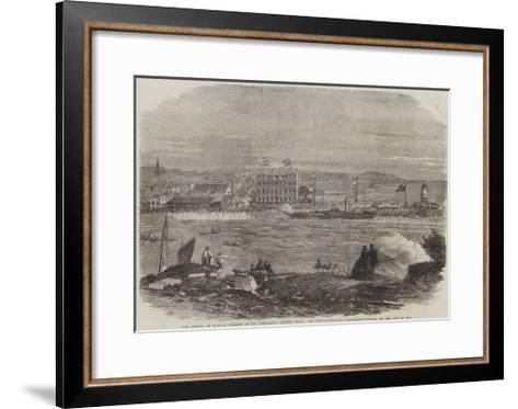 The Arrival in Douglas Harbour of His Excellency Francis Pigott-Thomas Harrington Wilson-Framed Art Print